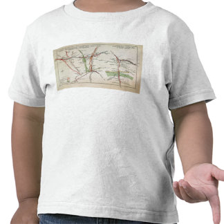 Transport map of London, c.1915 T-shirts