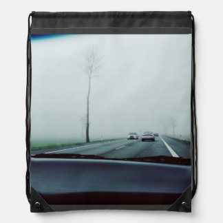 Transport Themed, View Across Dashboard To Two-Way Drawstring Backpack