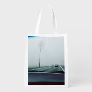 Transport Themed, View Across Dashboard To Two-Way Grocery Bag