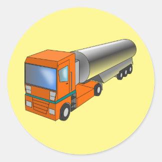 Transportador pesado del camión de petrolero del pegatina redonda