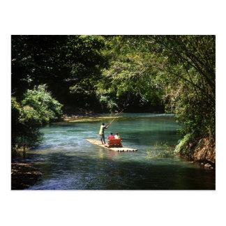 Transportando en balsa en el río del Brae de Tarjeta Postal