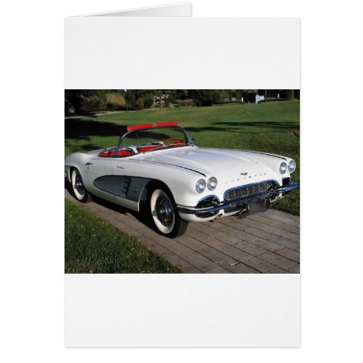 Transportation 077,classic cars,corvette,a classic greeting card