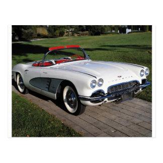Transportation 077,classic cars,corvette,a classic postcard