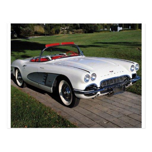 Transportation 077,classic cars,corvette,a classic post cards