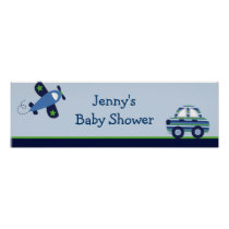 Transportation Airplane Car  Banner Sign Poster