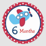 Transportation Airplane Monthly Milestone Stickers