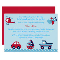 Transportation Baby Shower Car Truck Airplane Card