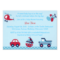 Transportation Baby Shower Invitations