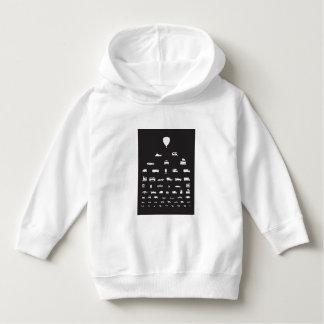 Transportation - black toddler hoodie