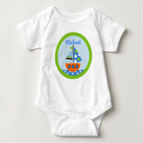 Transportation Boat Baby Birthday T-Shirt