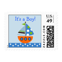 Transportation Boat Personalized Postage Stamps