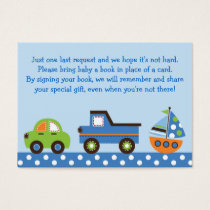 Transportation Book Request Cards