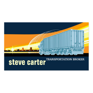 Transportation Broker Truck Logistic Moving Card Double-Sided Standard Business Cards (Pack Of 100)