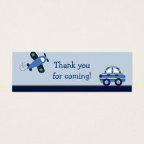 Transportation Car Airplane Favor Gift Tags