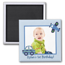 Transportation Car Airplane Photo Magnets Birthday