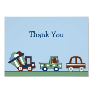 Transportation Car Truck Thank You Note Cards