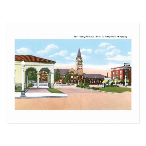 Transportation Center, Cheyenne, Wyoming Postcard