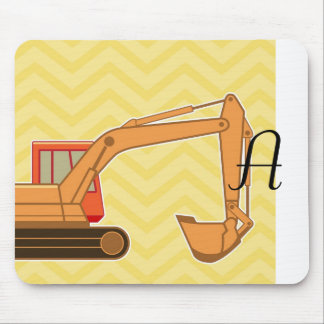 Transportation Heavy Equipment Backhoe - Yellow Mouse Pads