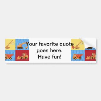 Transportation Heavy Equipment – Collage Bumper Sticker