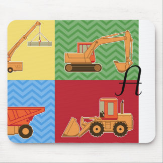 Transportation Heavy Equipment - Collage Mouse Pads