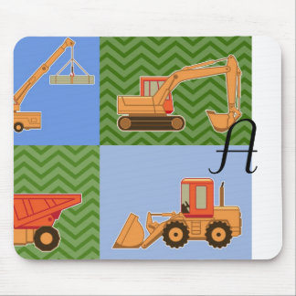 Transportation Heavy Equipment - Collage Mousepad