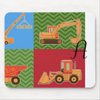 Transportation Heavy Equipment - Collage Mouse Pad