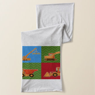 Transportation Heavy Equipment - Collage Scarf