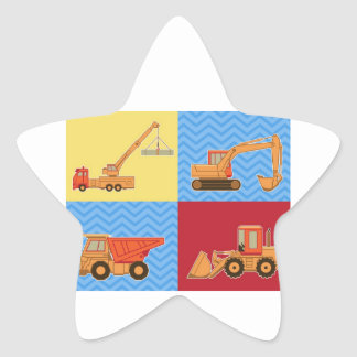 Transportation Heavy Equipment – Collage Star Sticker