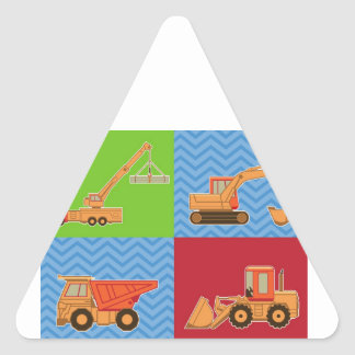 Transportation Heavy Equipment – Collage Triangle Sticker