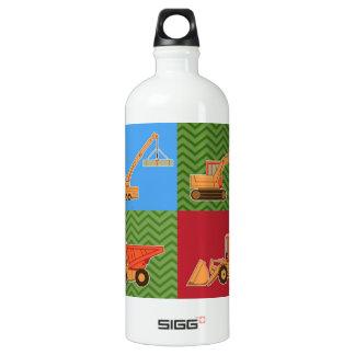 Transportation Heavy Equipment - Collage Water Bottle