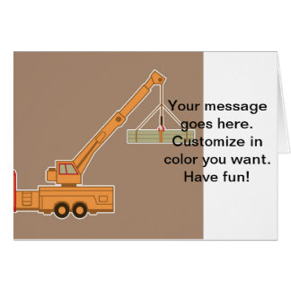 Transportation Heavy Equipment Crane – Brown Card