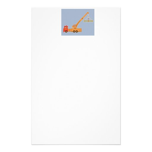 Transportation Heavy Equipment Crane Personalized Stationery