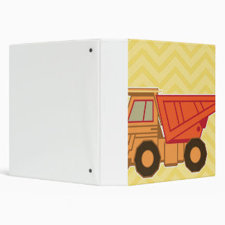 Transportation Heavy Equipment Dump Truck 3 Ring Binder