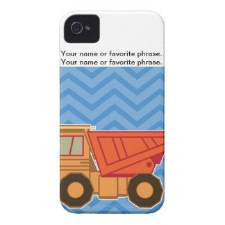 Transportation Heavy Equipment Dump Truck - Blue iPhone 4 Case