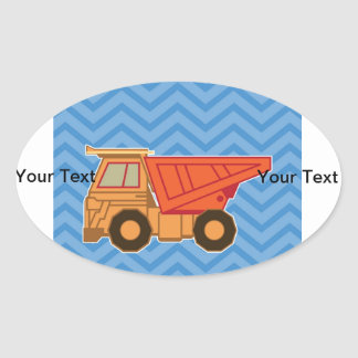Transportation Heavy Equipment Dump Truck - Blue Sticker