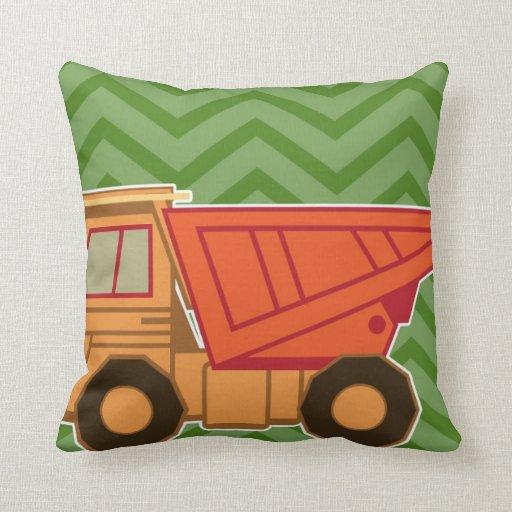 Transportation Heavy Equipment Dump Truck Pillow