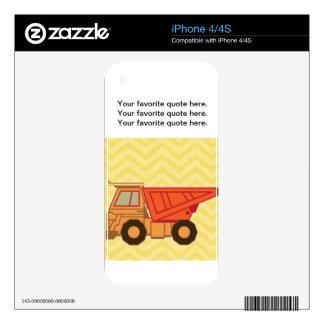 Transportation Heavy Equipment Dump Truck Skin For iPhone 4