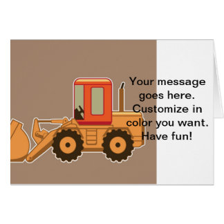 Transportation Heavy Equipment Payloader – Brown Card