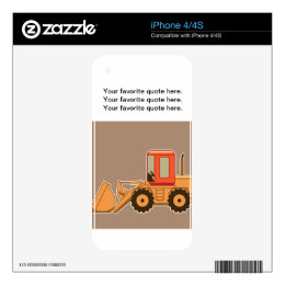 Transportation Heavy Equipment Payloader – Brown Decals For iPhone 4