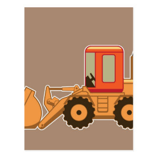 Transportation Heavy Equipment Payloader – Brown Postcard