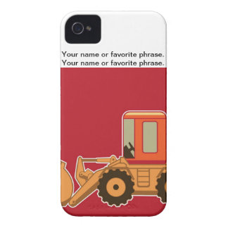 Transportation Heavy Equipment Payloader - Red iPhone 4 Case