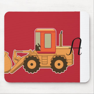 Transportation Heavy Equipment Payloader - Red Mouse Pad
