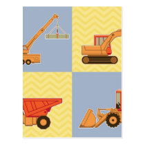 Transportation Heavy Equipments -Plain and Chevron Postcard