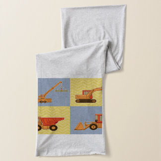 Transportation Heavy Equipments -Plain and Chevron Scarf