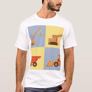 Transportation Heavy Equipments -Plain and Chevron T-Shirt