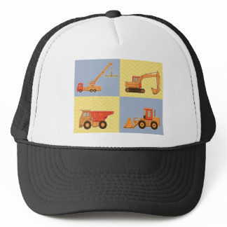 Transportation Heavy Equipments -Plain and Chevron Trucker Hat