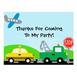 Transportation Helicopter Birthday Thanks Postcard