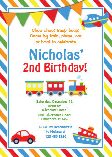 train birthday invitations zazzle