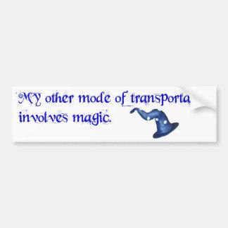 Transportation involves magic car bumper sticker