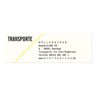 Transportation mini visiting cards